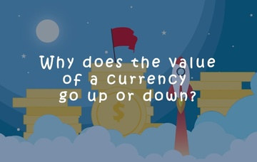 Why does the value of a currency go up or down?